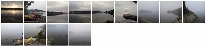 Kayaking around Möja, 2012-07-08
