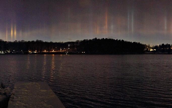 Pilastri di luce